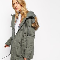 ASOS Parka with MA1 Detail