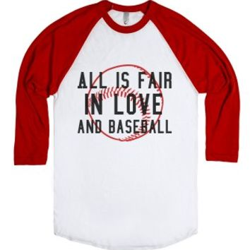 Baseball-Unisex White/Red T-Shirt