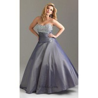 Ball Gown Strapless Floor-Length Taffeta and Beading Prom Dress SBG0067