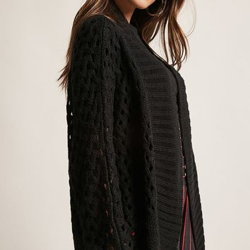 Open-Knit Shawl Cardigan