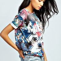 Aurora Miami 28 Tropical Baseball Tee