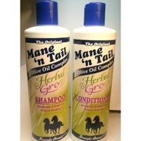 Amazon.com: Mane 'n Tail Herbal Gro Shampoo & Conditioner Olive Oil Complex 12 oz: Everything Else