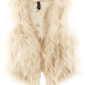 Sleeveless Fur Vest