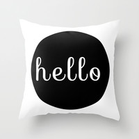 Hello Pillow Throw Pillow by CPT HOME