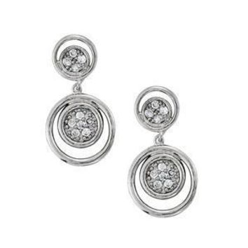 Diamond Cluster Earrings with F Color VS1 VS2 Clarity Diamonds