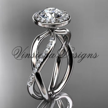 platinum diamond engagement ring VD10079