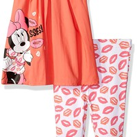 Disney Baby Girls' Minnie Mouse 2-Piece Flutter Sleeve Top and Legging Set