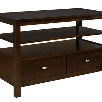 A. A. Laun Loft Entertainment Console, 1 Drawer And 1 Fixed Shel