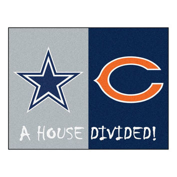 Dallas Cowboys-Chicago Bears NFL House Divided NFL All-Star Floor Mat (34x45)