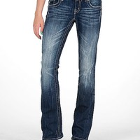 Miss Me Leather Applique Boot Stretch Jean
