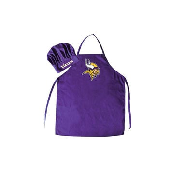 Minnesota Vikings Barbeque Apron and Chef's Hat