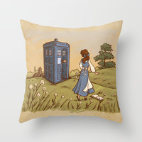 Adventure in the Great Wide Somewhere Throw Pillow by Karen Hallion Illustrations