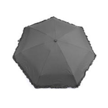 Polka-Dots Compact Solid Color Ruffled Trim Umbrella - Sears