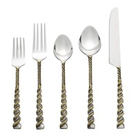 Helix - 5 Piece Placesetting in Gold & Silver