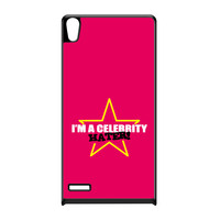 Celebrity Hater Black Hard Plastic Case for Huawei P6 by Chargrilled