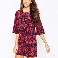 Influence Flute Sleeve Shift Dress at asos.com