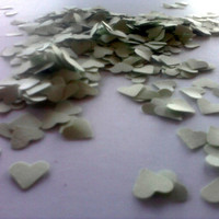 Mint Green Confetti Wedding Reception Table Decoration Bridal or Baby Shower Die Cuts Mini Hearts Scrapbooking Cardmaking 500 pcs