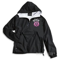 Monogrammed Bow Pullover Rain Jacket | Marley Lilly