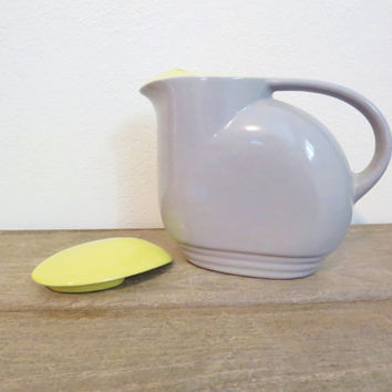 Vintage Pitcher / Mid Century Pitcher / Ceramic Water Pitcher / Antique Pitcher / Gray Pitcher / Retro Water Pitcher / Retro Kitchen