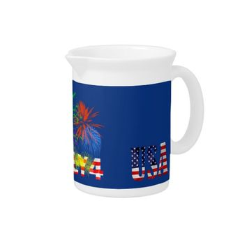 4th of July Fireworks Drink Pitcher
