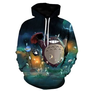 Anime Totoro Cross 3D Men Hoodies Printed Men Women Autumn Sweatshirts Lover Sports Pullovers XXXTENTACION HOODIE JESUS CLOTHES