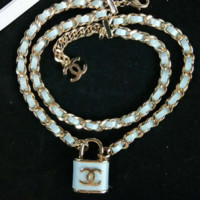 Chanel new leash necklace