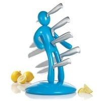 THE EX Kitchen Knife Set by Raffaele Iannello, Blue: Kitchen & Dining