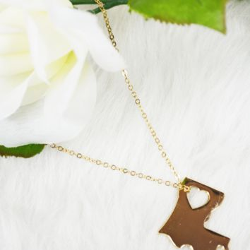 state love necklace - louisiana