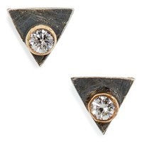 Melissa Joy Manning Triangle DIamond Stud Earrings | Nordstrom