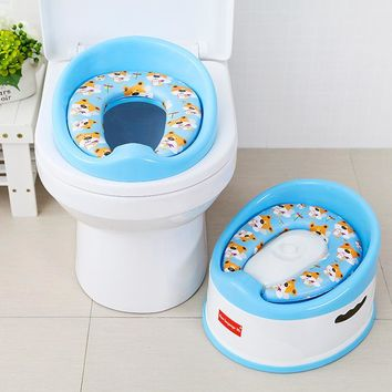 2017 New Baby Girl Boy Portable 33.5*31*22.5cm Toilet Seat Safe & Comfort Pink White Blue Training Urinals Soft Chair Pad Seat