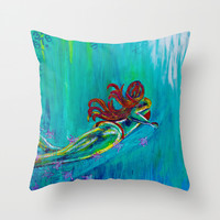Satisfy My Soul Throw Pillow by Sophia Buddenhagen