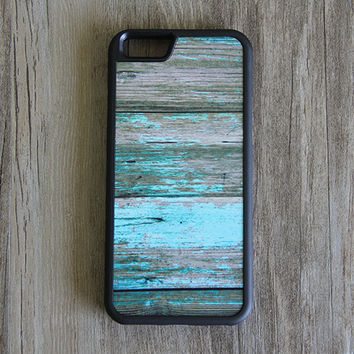Turquoise Artist Grunge Wood Design iPhone 6/6plus/5S/5/5C/4S/4 Tough Case,Samsung Galaxy S5/S3/S3/Note 3 Silicone Case