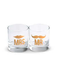 Mr. & Mrs. Cocktail Glass Set*