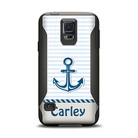 The Blue Highlighted Anchor with Rope Name Script Samsung Galaxy S5 Otterbox Commuter Case Skin Set