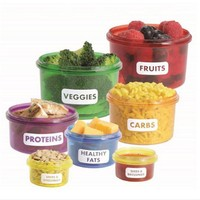 7Pcs/set Portion Control Food Box Prep Storage Container Fitness Workout Meal Eating Plan Nutriton Bento Lunch Dinnerware