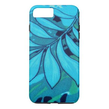 Pretty Blue Floral Pattern iPhone 7 Plus Case