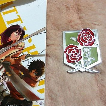 Cool Attack on Titan anime  vintage Badge Cosplay no  SNK brooch Scouting Legion metal pins buttons model toy Periphery AT_90_11