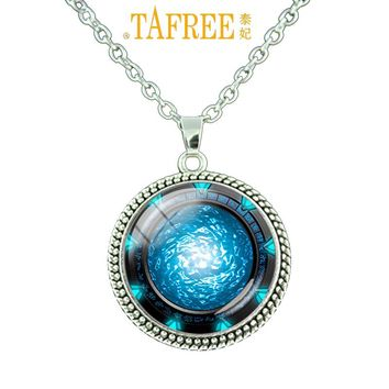 Nebula space pendant astronomy chain necklace