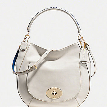 COACH CIRCLE HOBO IN POP LACING WHIPLASH LEATHER | Dillards.com