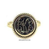 Monogrammed Sterling Silver Ring in Nala | Personalized Jewelry