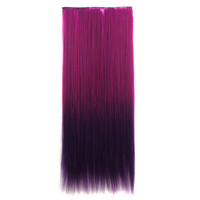 Sexy On Sale Hot Deal Hot Sale Beauty Anime Wigs Rose Red Gradient Dark Purple Straight Hair Ladies Hair Extensions [4923177348]