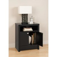 Prepac Series 9 Designer 2 Door Nightstand in Black
