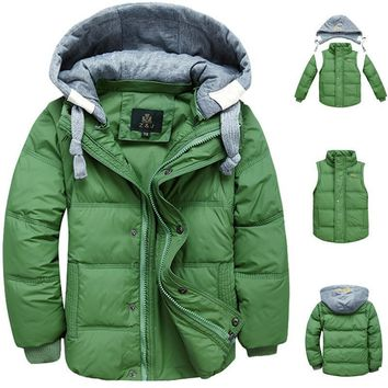 baby boy winter 2017 cotton parkas jacket for a boy children coat down jacket fashion hooded thick warm coat winter boys clothes