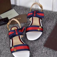 Gucci Trending Women Stripe Star Sandals Slippers I