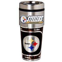 Pittsburgh Steelers Stainless Steel Metallic Travel Tumbler (Stl Team)