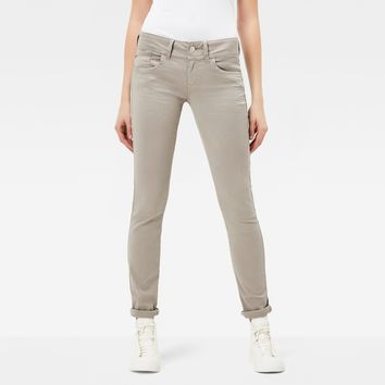 Lynn Mid Waist Skinny Color Jeans | Mercury | Women | G-Star RAW®