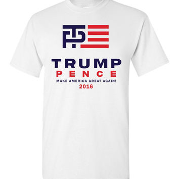 Trump Pence 2016 OFFICIAL Logo Shirt - Made in the USA