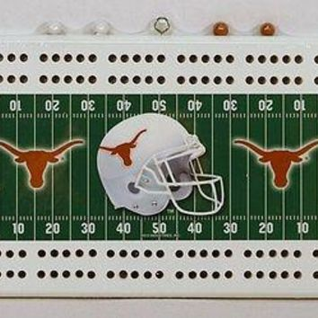 University of Texas Longhorns Football Cribbage Board FREE US SHIPPING