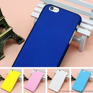 Luxury Ultra Slim Case For iphone 7 6 6S Plus Case For iphone 4 4S 5 5S SE 5C Colorful Frosted Hard Scrub Back Cover Phone Cases