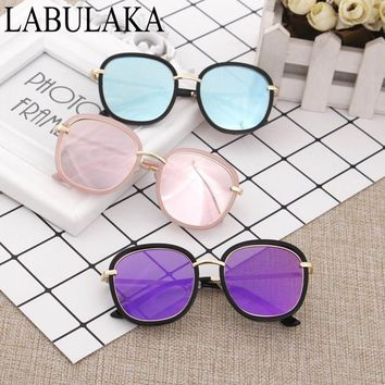 New Child Sunglasses Fashion Round Boys Girls Sun glasses Trendy Big Frame Eye wear Baby Kids Eyeglasses Goggles